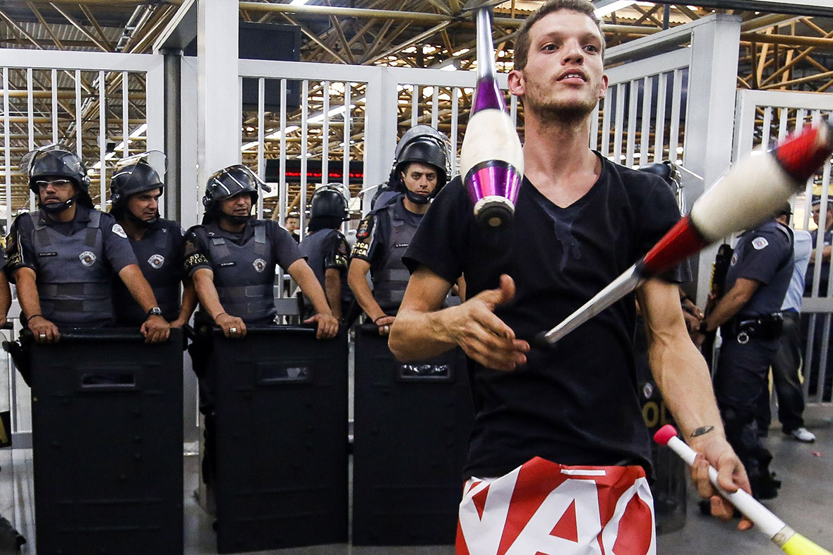 world cup protests brazil 2014 Sao Paulo