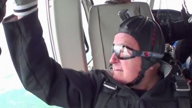President Bush's Birthday Skydive Faceplant Caught on Video