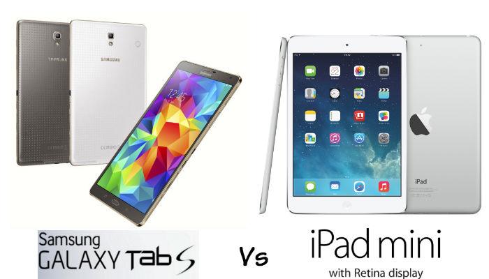 Samsung Galaxy Tab S 8 vs iPad Mini Retina