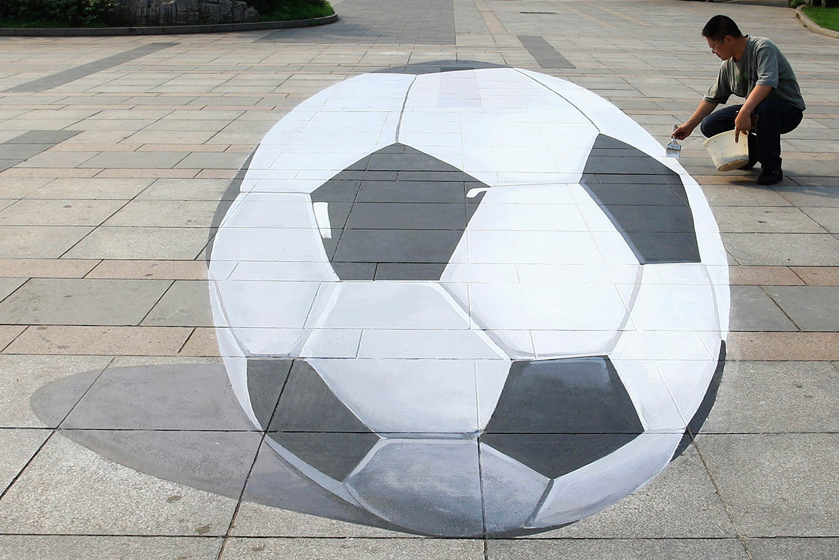 world cup 3d ball painting