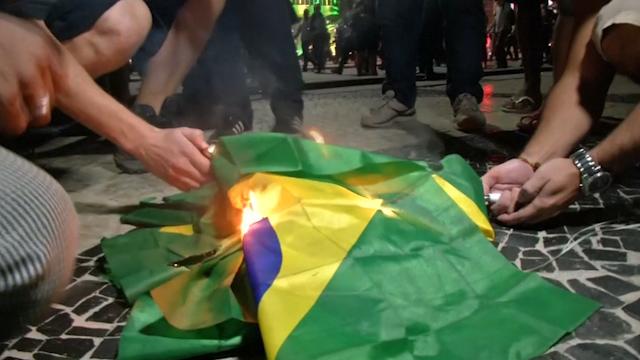 Brazilian TV Studio Damaged by Protesters in Rio