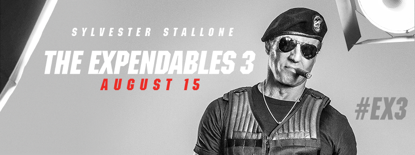 The Expendables 3 starring Sylvester Stallone will release on August 15.