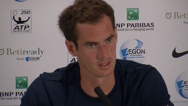 Andy Murray Discusses his Defeat at Queen's