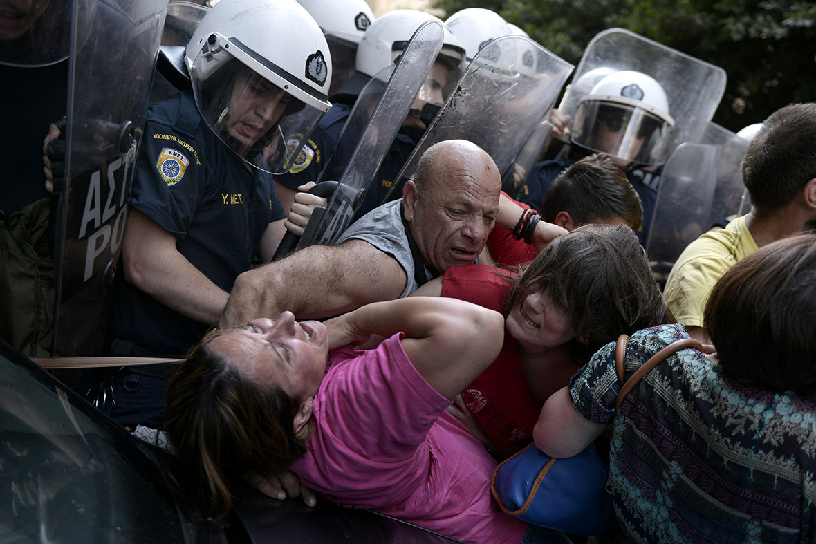 greece bailout protests