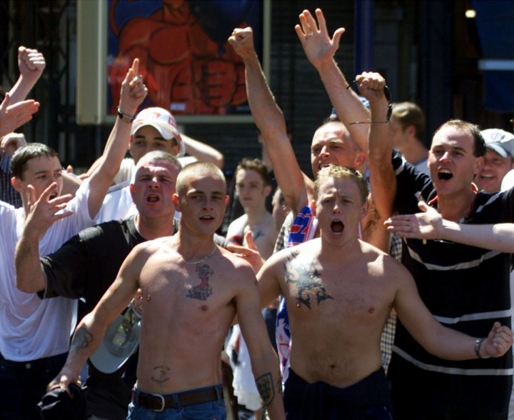 England fans in Charleoi, Belgium during Euro 2000. (reuters)