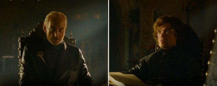 Tywin and Tyrion Lannister