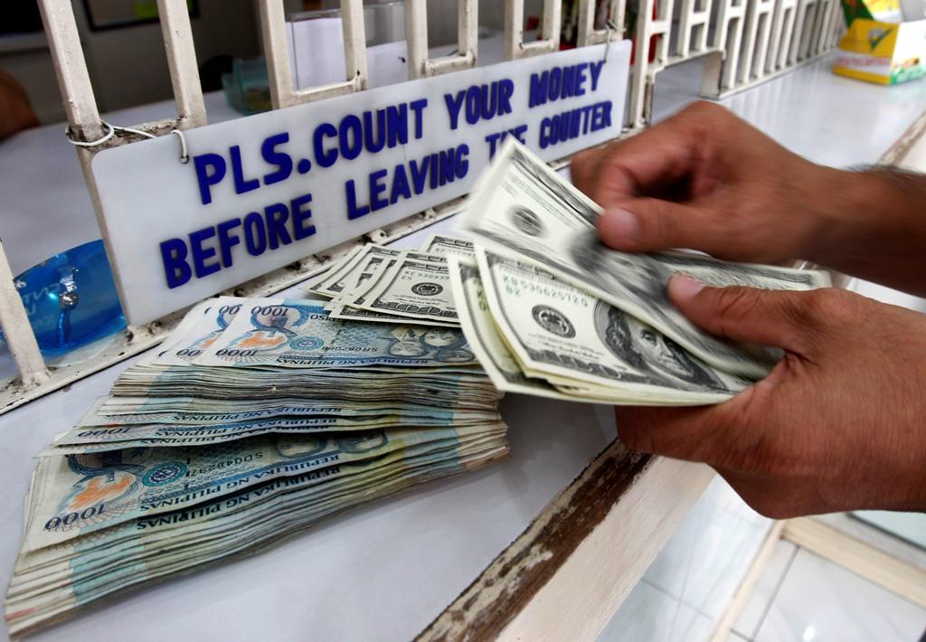 US Dollar Bills Philippines Pesos