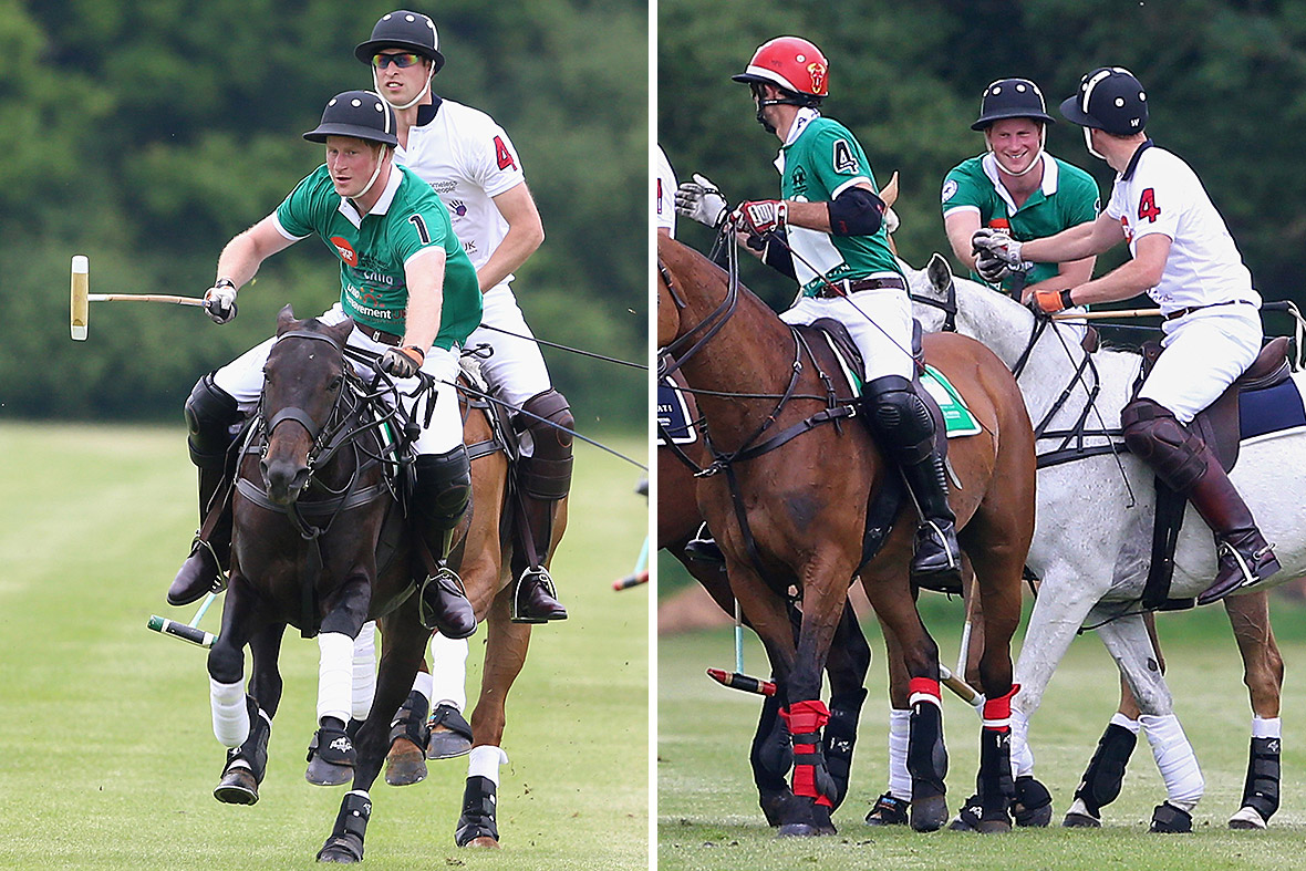 prince harry prince william polo