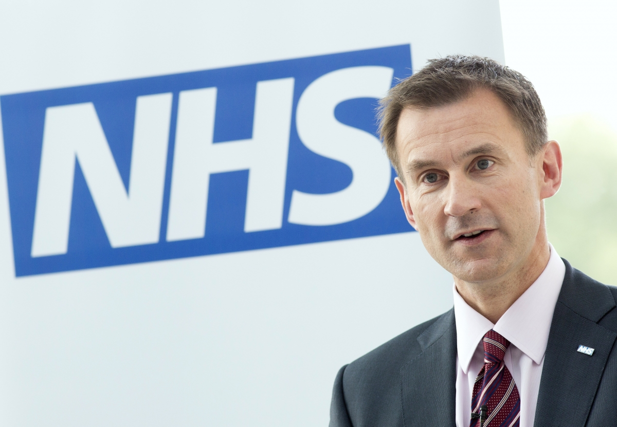 Health secreetary Jeremy Hunt