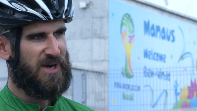 England Fan Cycles 5,000 Miles to See His Team Play