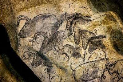 The cave has more than 1,000 pictures, many featuring animals such as bison, mammoths and rhinos