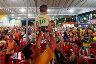 world cup fans brazil