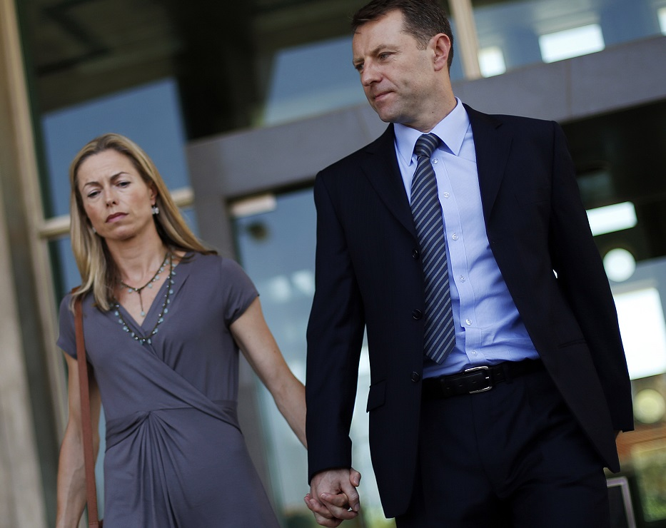 Kate and Gerry McCann (right) outside court in Lisbon Goncalo Amaral won another adjournment in libel trial