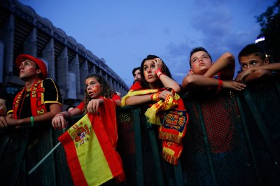 world cup fans spain