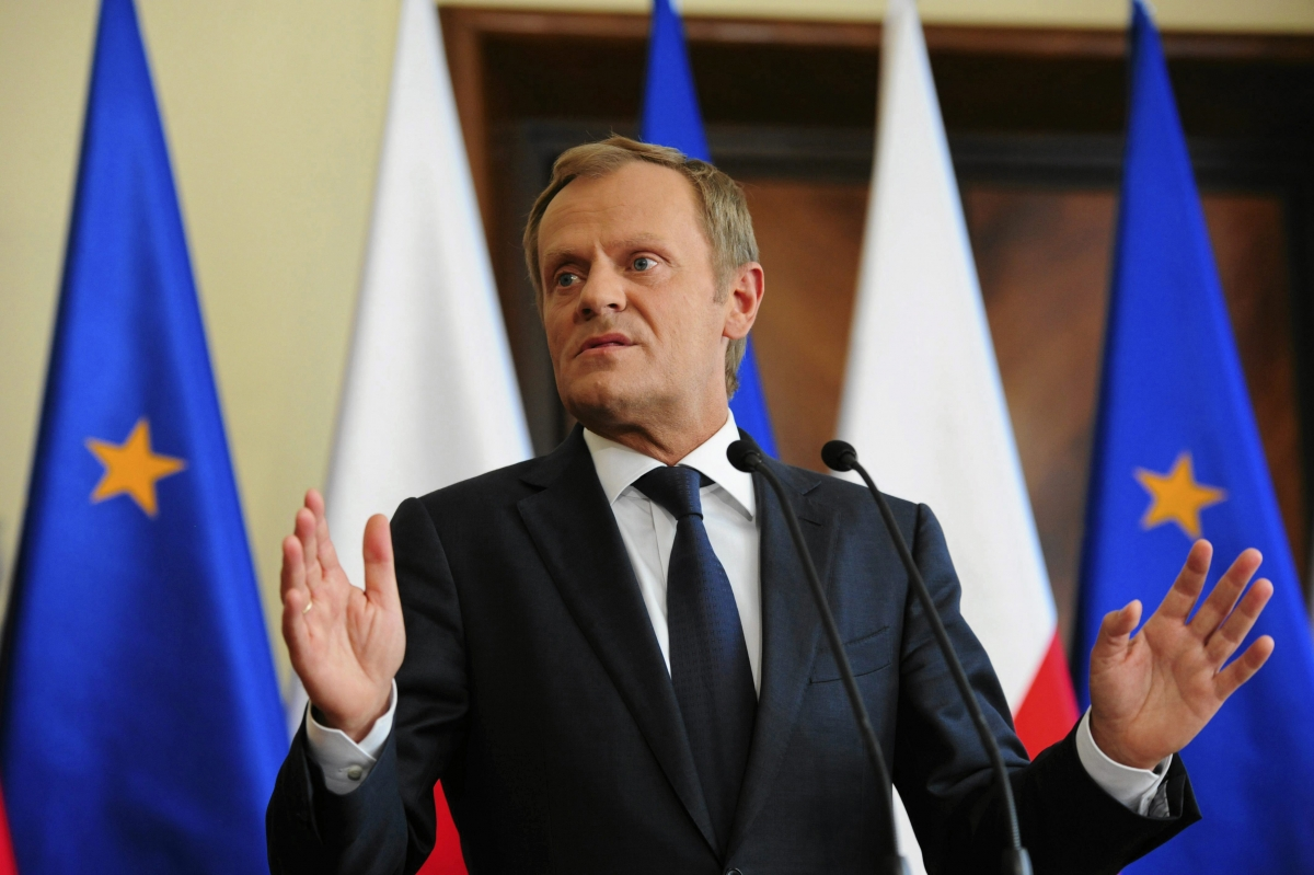 Poland's Prime Minister Donald Tusk in Warsaw June 16, 2014. Tusk said he had no intention of dismissing his Cabinet over a leaked tape recording