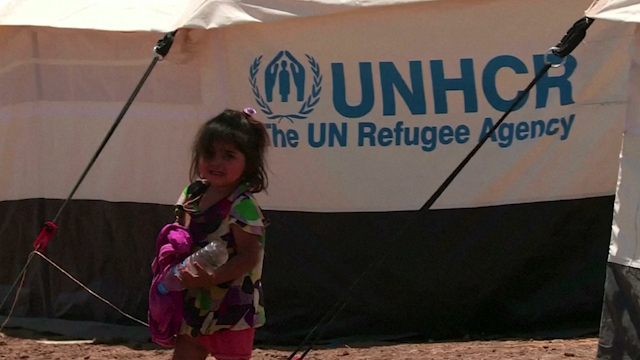 UNHCR Shelters Iraqi Refugees After ISIS Attack on Mosul