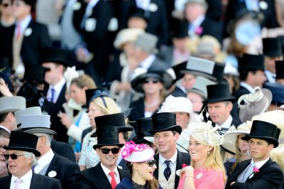 A general view of racegoers during day one of Royal Ascot at Ascot Racecourse