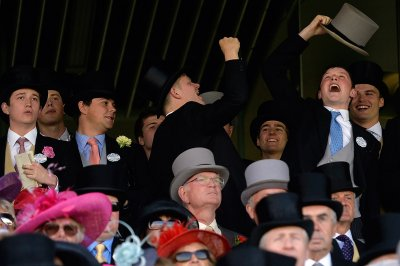 Racegoers react on the first day of the Royal Ascot horse racing festival
