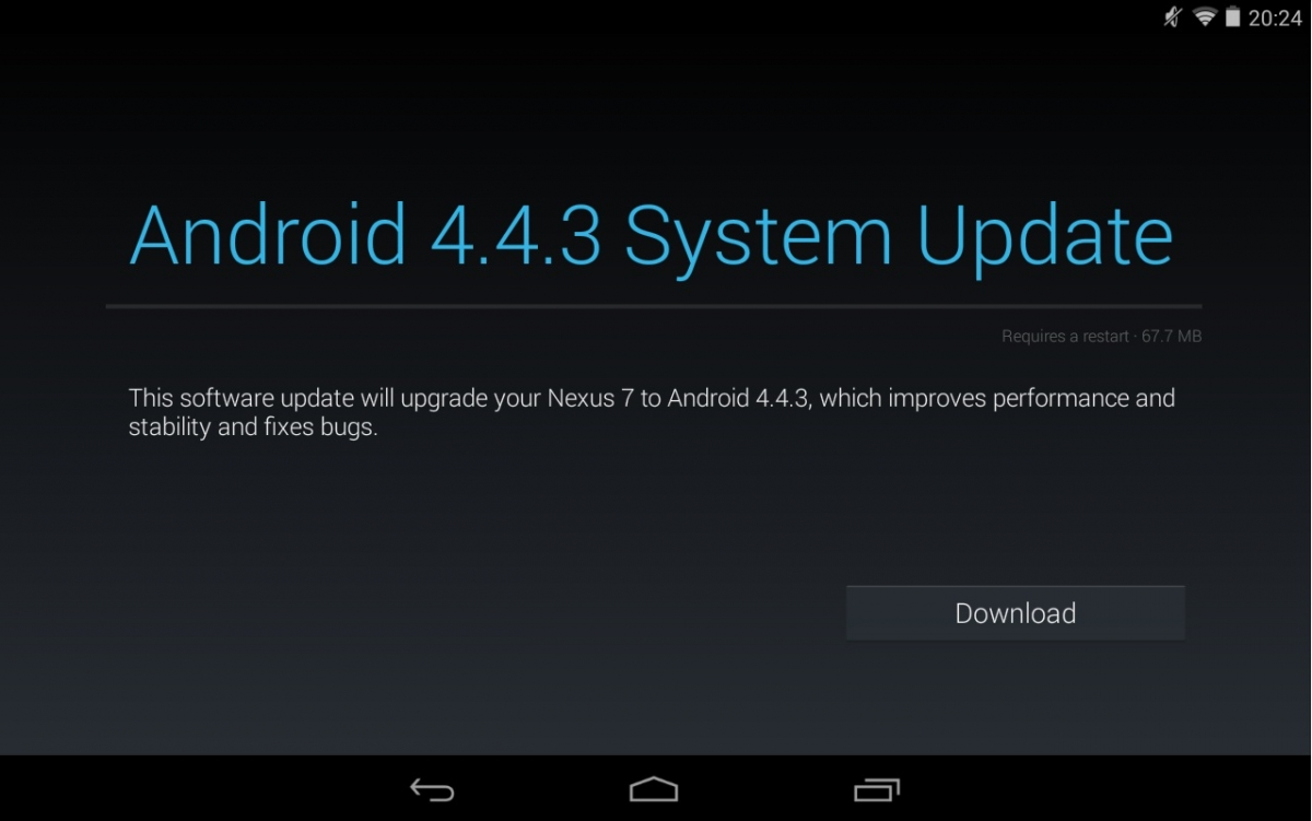 Android 4.4.3 KTU84L OTA Available for Nexus 7 2012 Wi-Fi ...