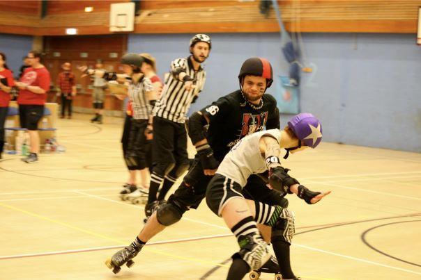 Lily Rae is a writer and musician. She currently skates for Croydon Roller Derby under the name of Agent Cooper.