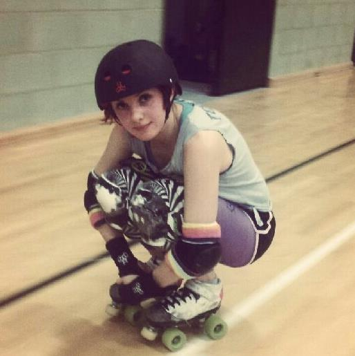 Lily Rae currently skates for Croydon Roller Derby under the name of Agent Cooper