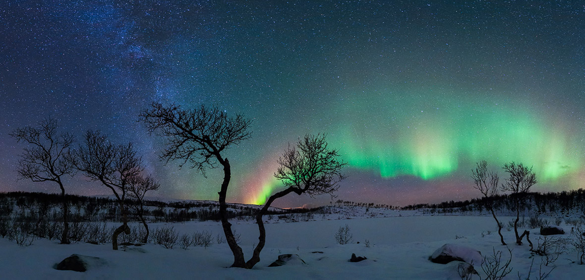 Aurora and the Milky Way by Rune Johan Engeboe