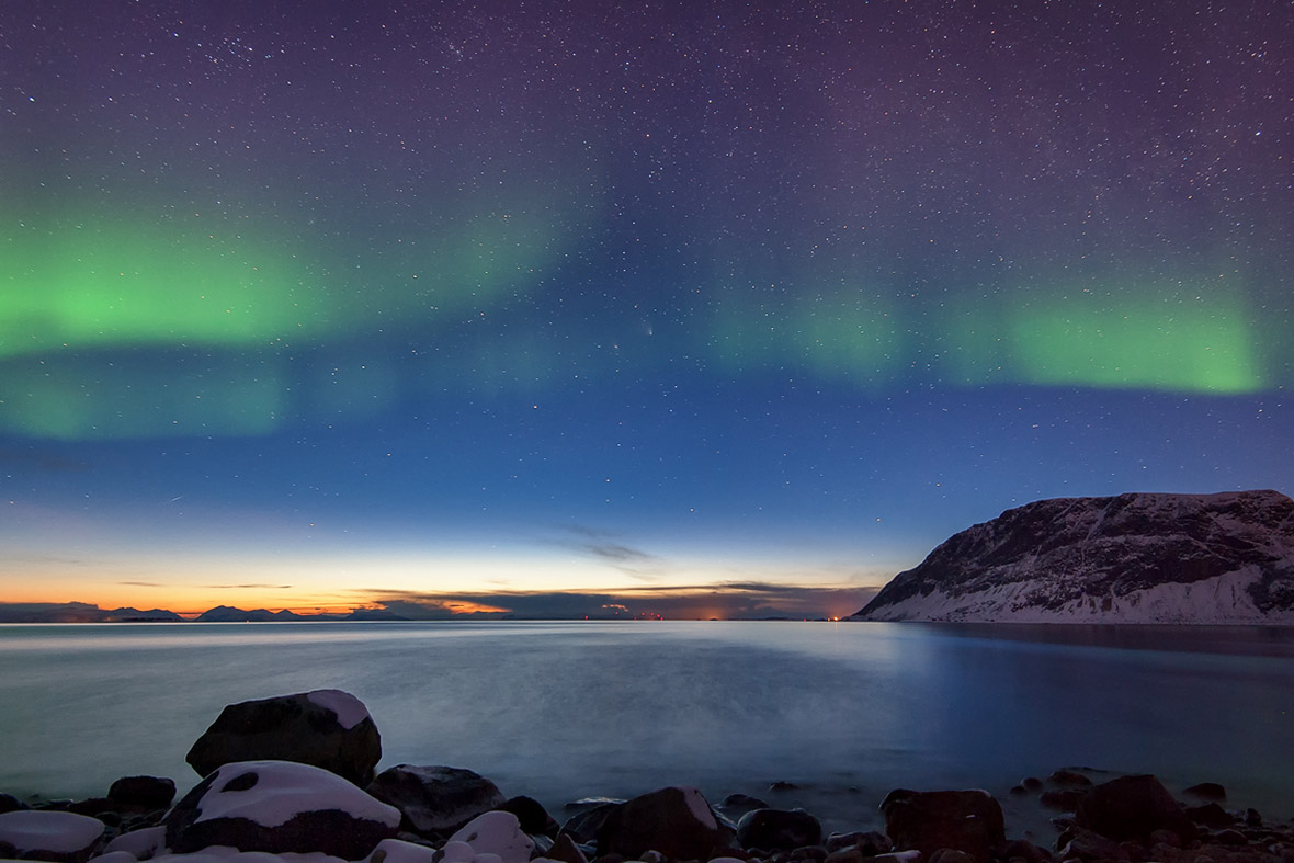 PAN-STARRS at the end of the polar night by Rune Johan Engeboe