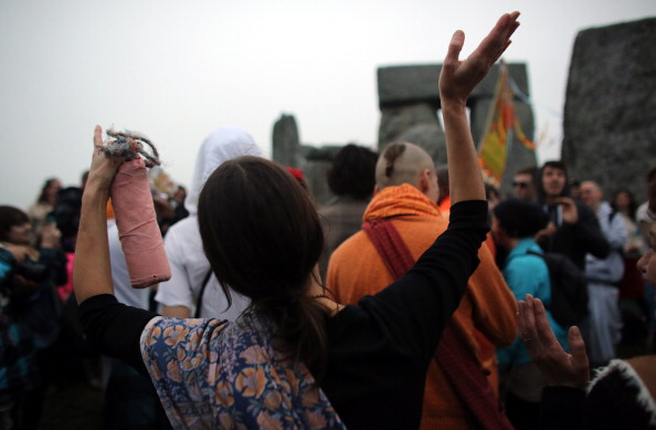 Pagans celebrating Summer Solstice