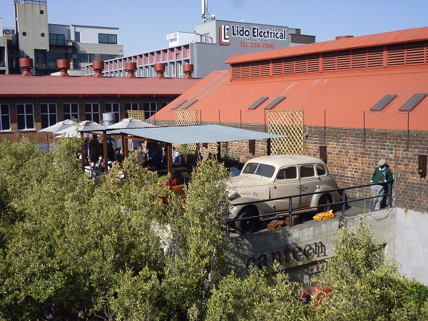 A cafe nestled in Joberg's trendy downtown area