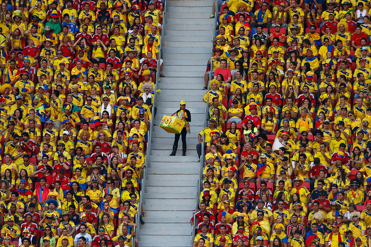 world cup fans colombia