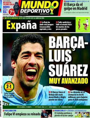 Mundo Deportivo front page