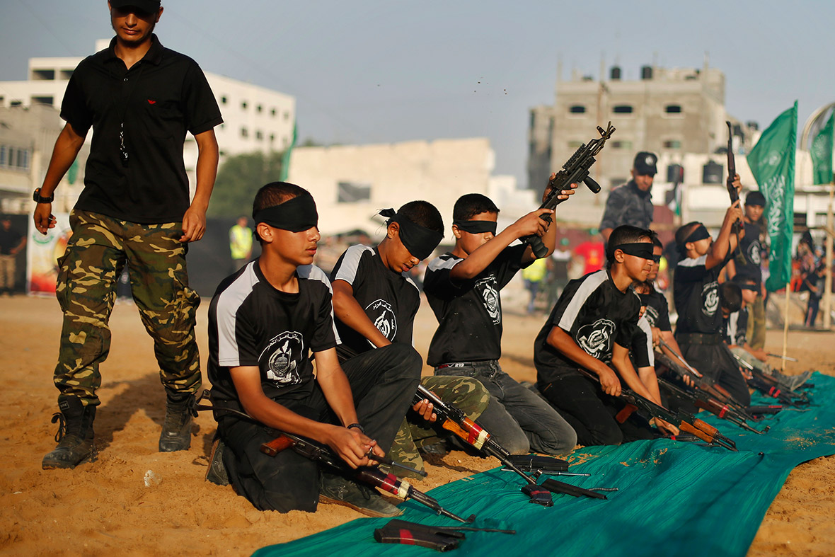 hamas summer camps blindfold