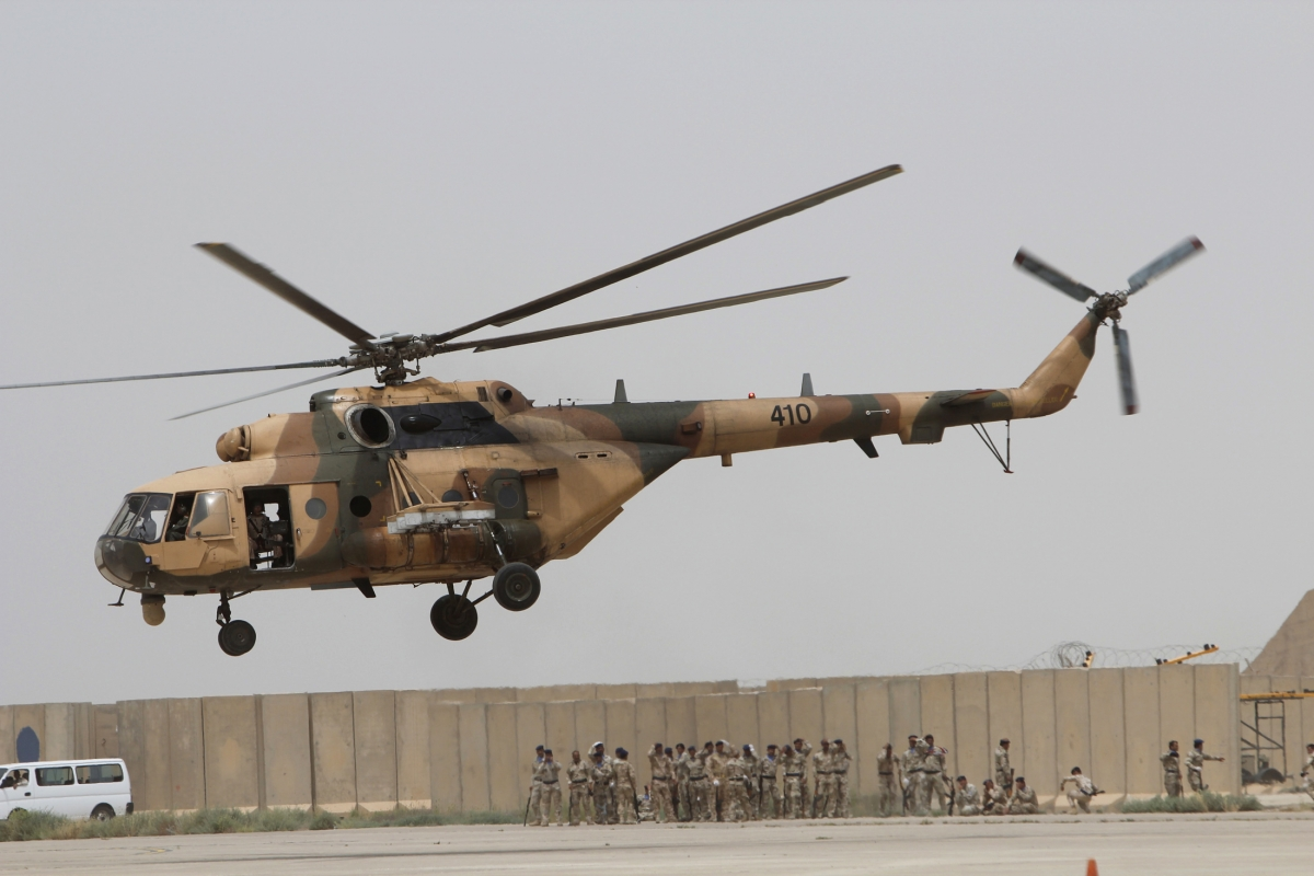 An Iraqi Air Force helicopter