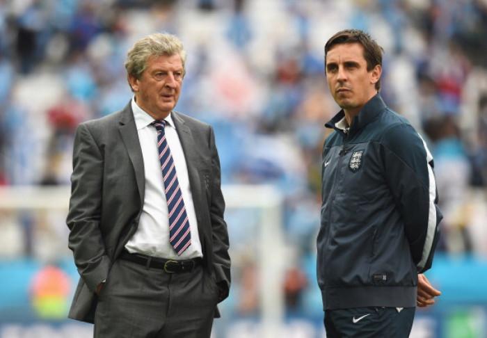 Roy Hodgson and Gary Neville