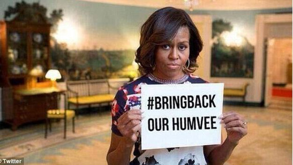 ISIS photoshopped Michelle Obama's 'Bring Back our Girls' placard