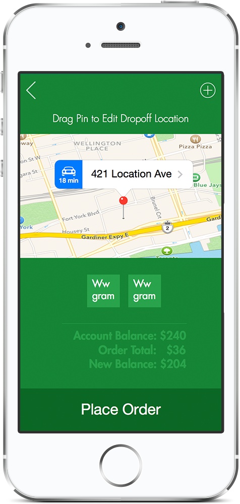 Place your medical marijuana order on the app within a few minutes