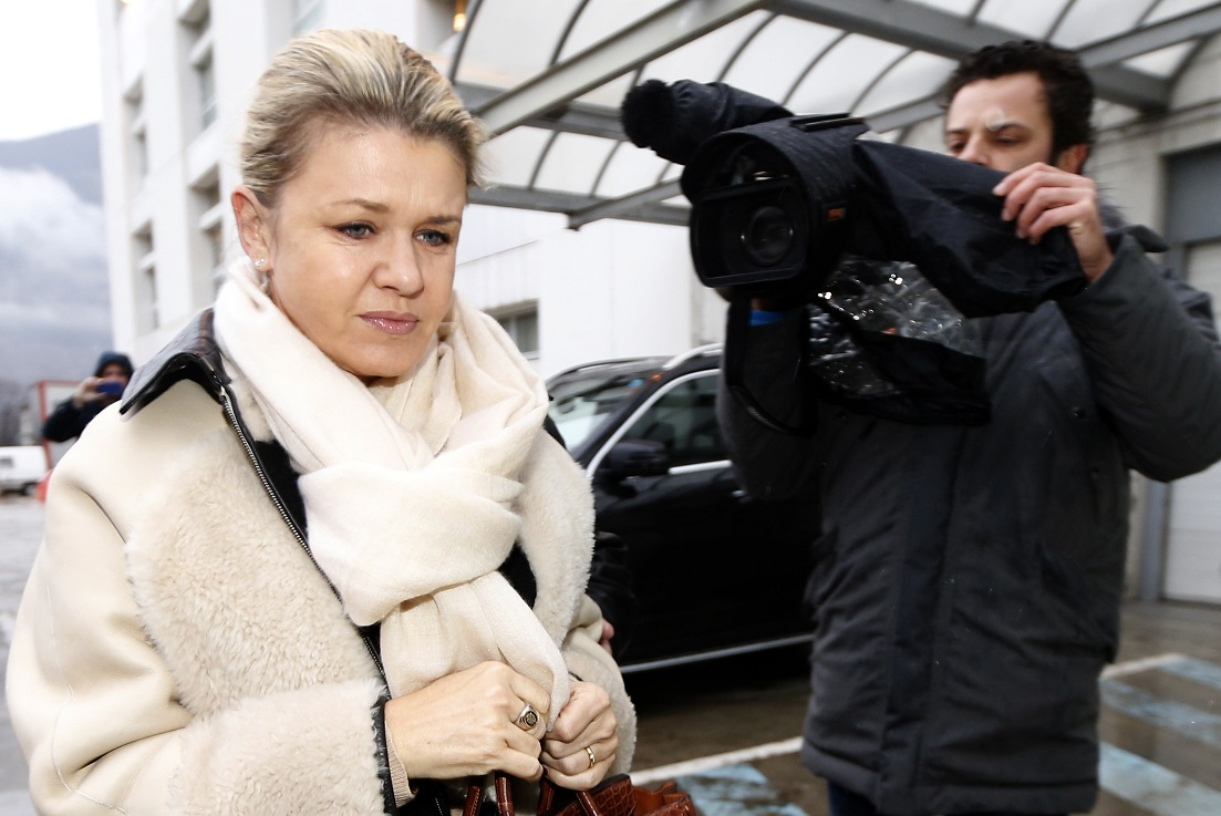 Corinna Schumacher filmed by cameraman at hospital treating Michael after his horror ski crash