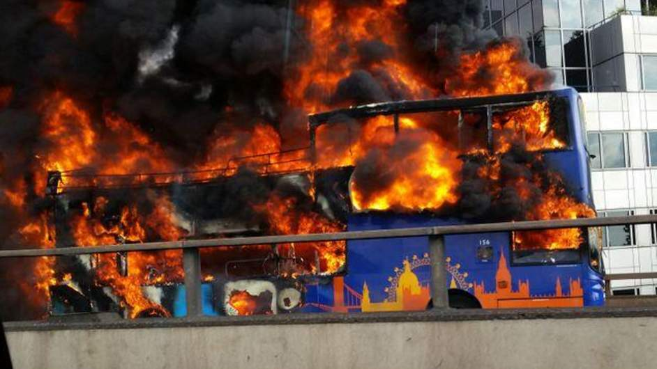 Tourist Bus on Fire