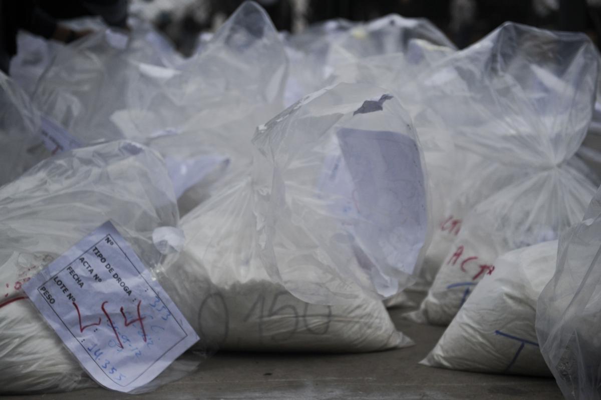 Cocaine seized in Lima, Peru. (Getty)