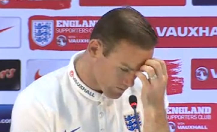 Wayne Rooney faced the media after England were sent crashing out of the World Cup