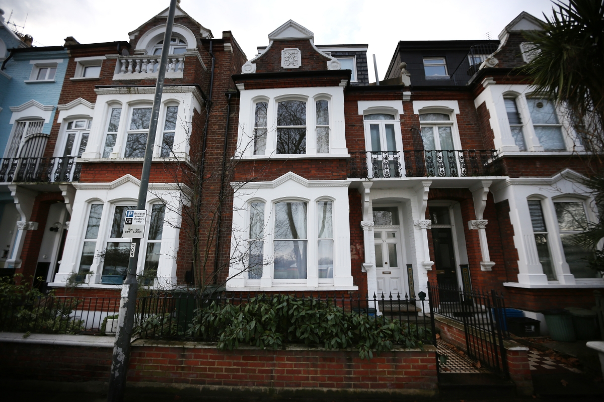 The site of Elm House guest house in barnes, southwest London, where a circle of VIPs allegedly abused children. (Getty)