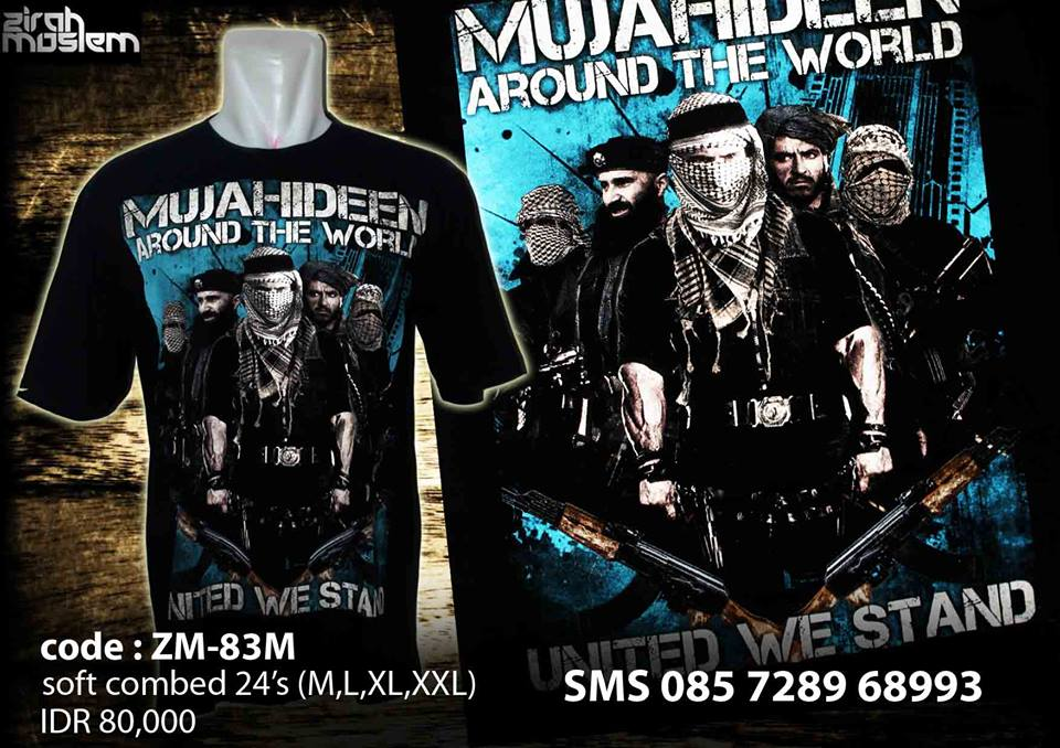 Zirah Moslem jihadist t-shirt, yours for $13 (Facebook)