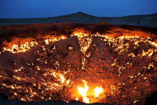 Derweze crater Turkmenistan