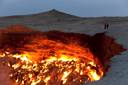 door to hell burning crater Turkmenistan & Halloween 2015: The Door To Hell in Turkmenistan that has been ...