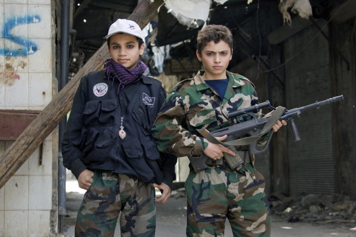 Syria child soldiers