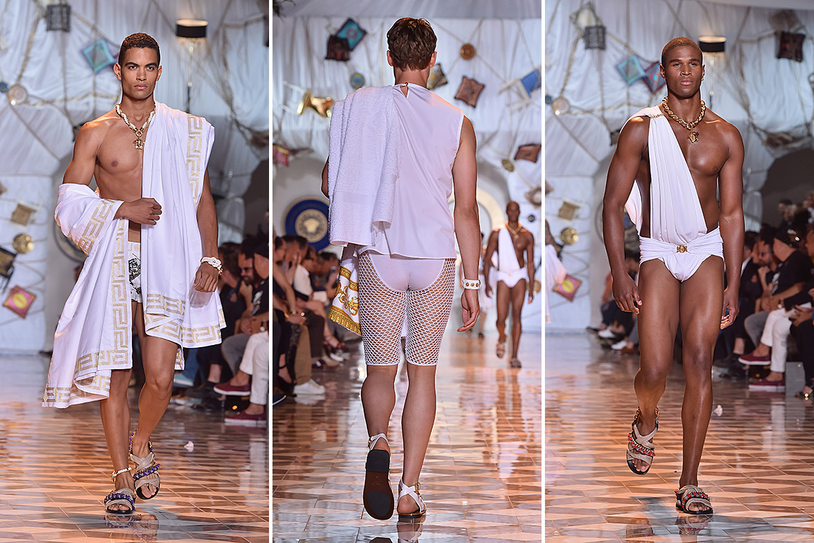 milan mens fashion week Versace