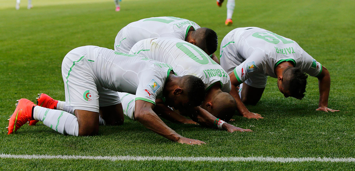 world cup goal celebration algeria