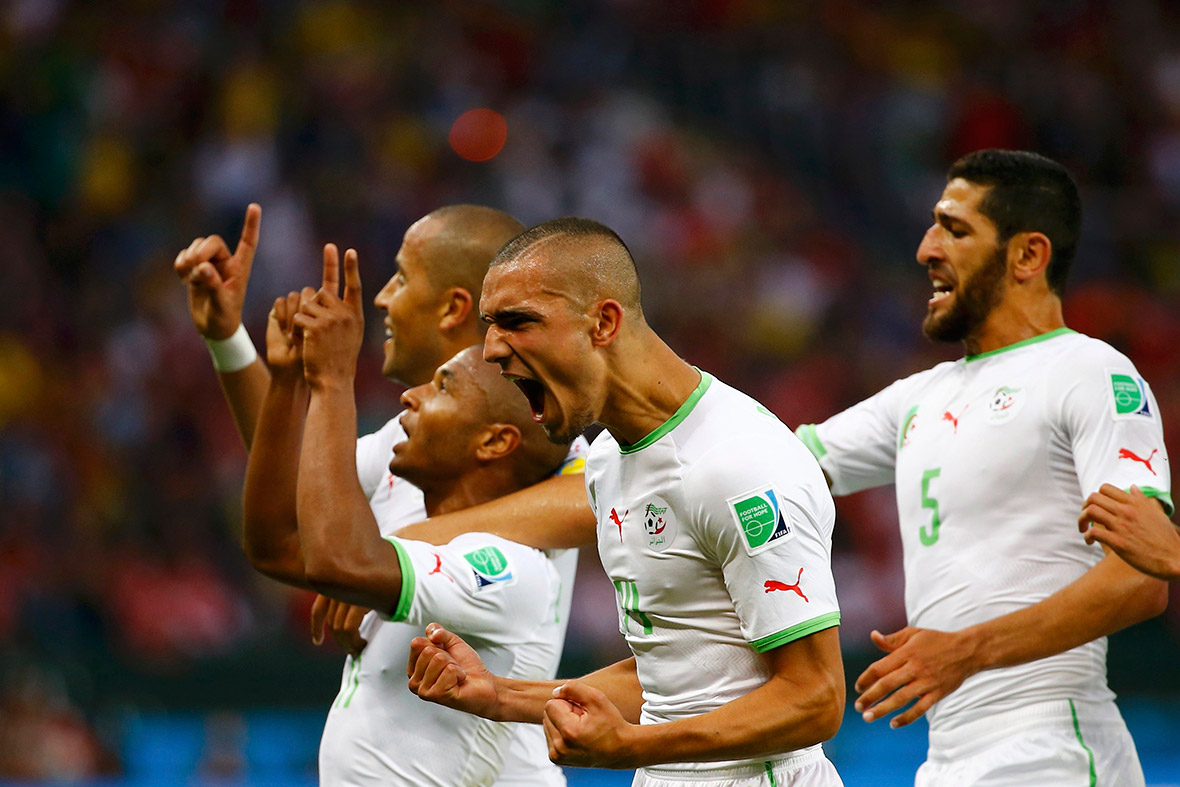 world cup goal celebration algeria