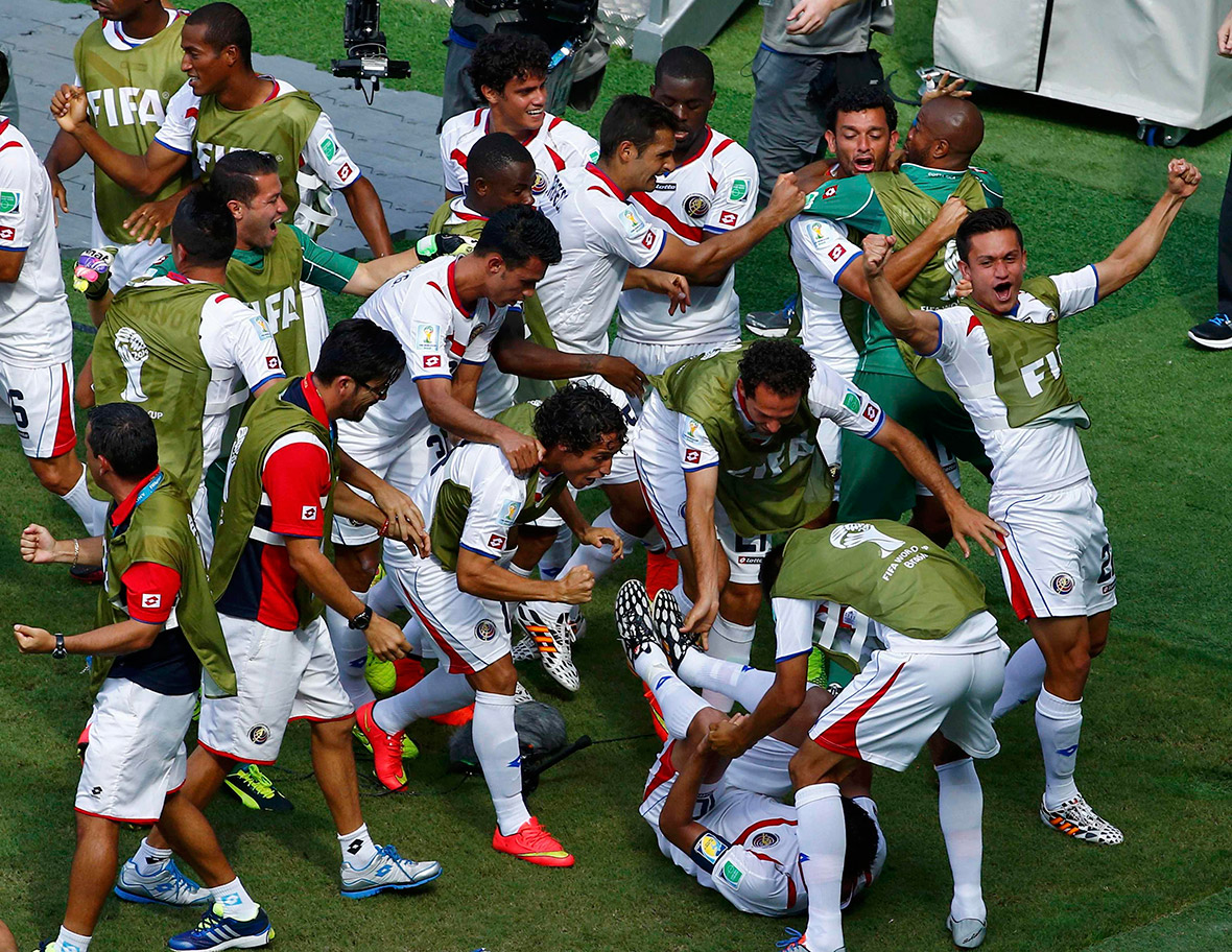 world cup goal celebration costa rica