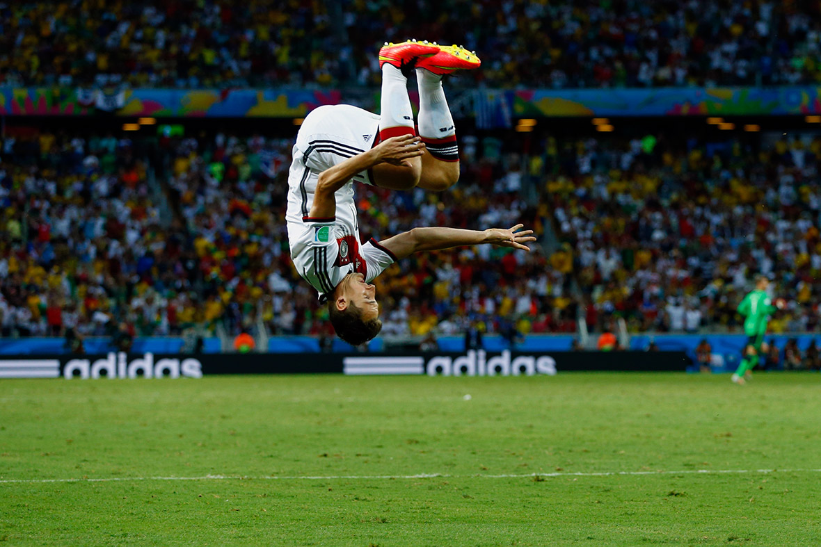 world cup goal celebration klose germany